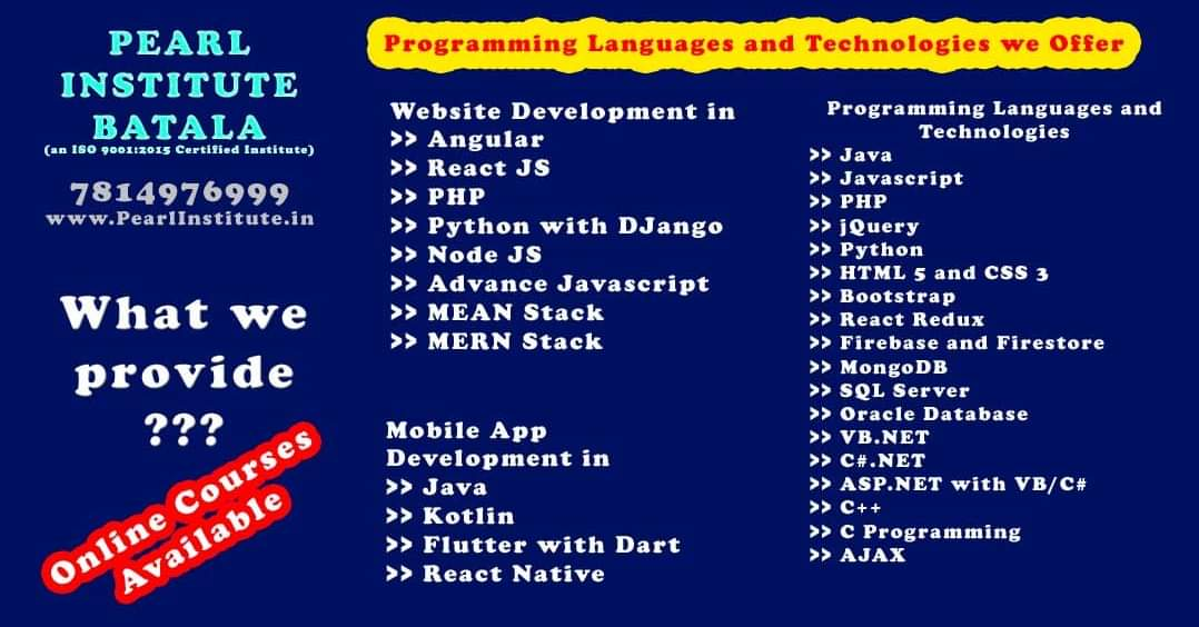 Best Institute For Programming Courses In Batala